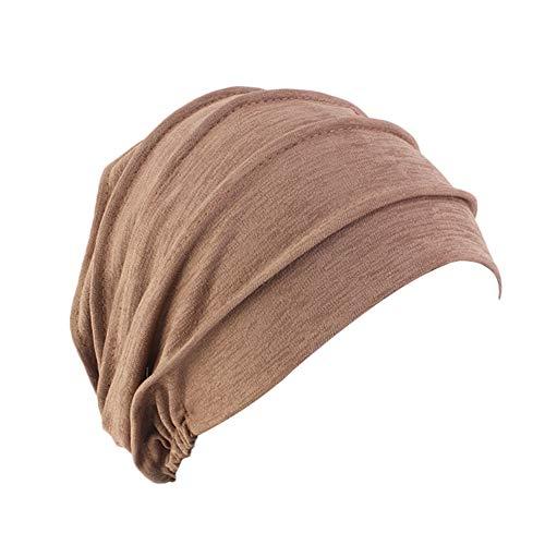 Amorar Mujeres Gorra Beanie Elástico Chemo Sombrero Turbante Multiusos Bandanas Slouchy Musulmán Hijib Pañuelo en la Cabeza para Perdida de Cabello