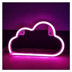 LED Nuage Néon Signe De Lumière De Nuit Lampe Murale Art Décoratif Chambre Décor De Fête Pour La Maison Chambre Bar/Noël/Mariage/Fête D'anniversaire (Color : Pink)