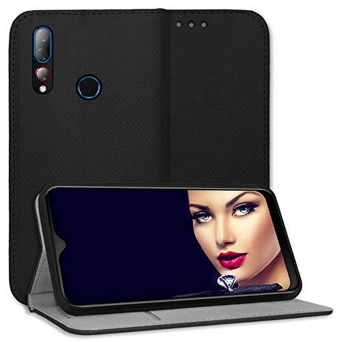 mtb more energy® Schutz-Tasche Bookstyle für HTC Desire 19 Plus (6.2'') - schwarz - Kunstleder - Klapp-Cover Hülle Wallet Hülle