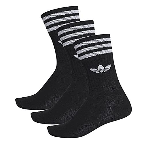 adidas Solid Crew Socks - Calcetines (3 unidades) blanco/negro XS