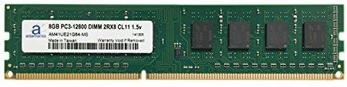 Adamanta 8GB (1x8GB) Desktop Memory Upgrade for iBuyPower Gamer Supreme 922SLCK DDR3 1600 PC3-12800 DIMM 2Rx8 CL11 1.5v RAM