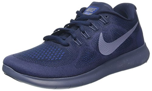 Nike Herren Free RN 2017 Laufschuhe, Blau (Obsidian/Light Carbon/neutral Indigo/Racer Blue 408), 41 EU