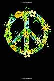 Simbolo hippie: Quaderno con 120 pagine a righe DIN A5