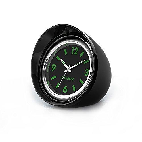 """FORNORM Auto Quartz Uhr, Quartz Uhrwerke KFZ Uhr Analog mit Schwarzes Zifferblatt Schwarz Schale Batterie Einbauuhr für Auto, 4.5cm/1.8"""""""