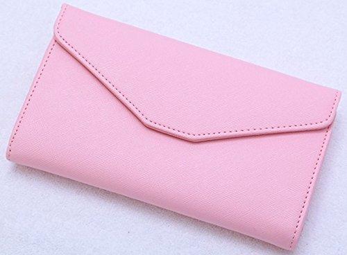 多機能 パスポート ケース お金 カード スマホ もスッキリ収納 男女兼用 日常のお財布にも! (ピンク)