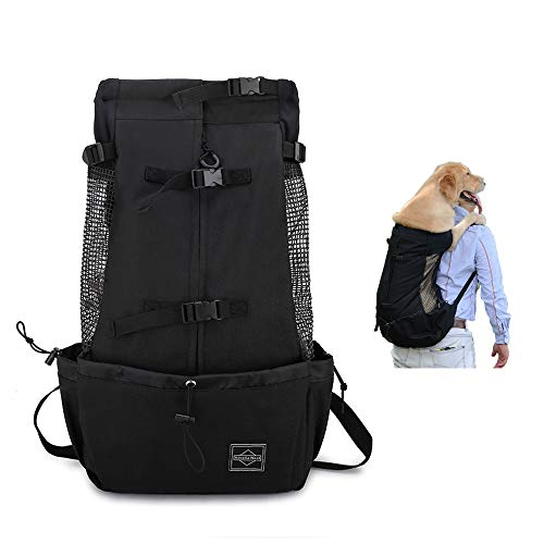 mcgrady1xm Dog Backpack Carrier for Small Medium Large Dogs, Puppy Backpack Extra Pockets Adjustable Pet Backpack Carrier for Bike Hiking Motorcycle