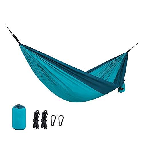 Toile Hamac Portable Jardin Balançoire Campi Arbre Hamacs Camping Intérieur Extérieur Hamacs Parachute portable for la randonnée Survie Voyage avec trois couleurs disponibles ( Color : B , Size : M )