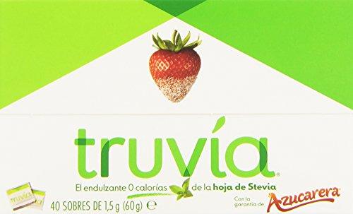 Truvia - Endulzante 0 calorías - De la hoja de Stevia - 40 sobres