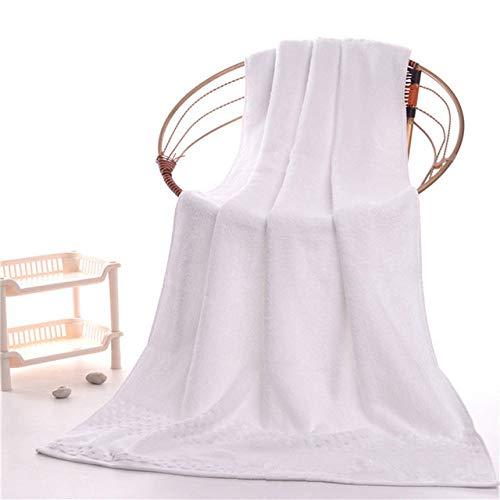 YHWW Toalla de baño,Algodón de Lujo 1pc90 * 180cm Toalla de baño 1pc 42 * 70cm Juego de Toallas faciales Sábanas de Tela súper absorbentes para Adultos Toalla de Ducha, Blanco