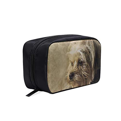 Trousse de maquillage moderne pour chien Animal York Shire Art Trousse de toilette zippée décorative clair Sacs de mode transparents pour femmes Sacs à la mode pour filles Sacs à cosmétiques Étui mul