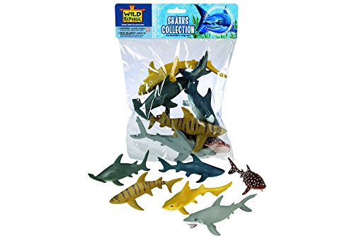 Wild Republic Shark Polybag Educational Toys Kids Gifts Aquatic Zoo Animals Shark Toys 6-Pieces
