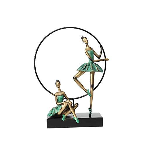 Ballet Girl Danse Ornement Vert Danse Décoration Entrée Salon Style Chinois Néoclassique Moderne Rollsnownow (Couleur : C)