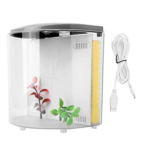 Rosilesi Aquarium: Transport-Fischbecken mit Filter, LED-Beleuchtung und USB, 20 cm (USB Aquarium)