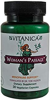 Vitanica - Woman's Passage - Menopause Support - 30 Vegetarian Capsules