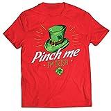 lepni.me Camisetas Hombre Pellizco yo Soy Irlandés Día de San Patricio Divertido Traje de Fiesta (L Rojo Multicolor)