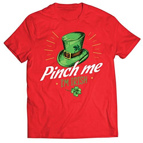 lepni.me Camisetas Hombre Pellizco yo Soy Irlandés Día de San Patricio Divertido Traje de Fiesta (M Rojo Multicolor)
