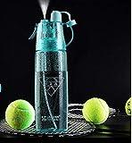 xuanyanhu Botella de Deportes al Aire Libre de Aerosol de 600ml Botella de Agua Transparente de plástico Transparente a Prueba de Fugas Botella de Agua de enfriamiento para Montar en Bicicleta Azul