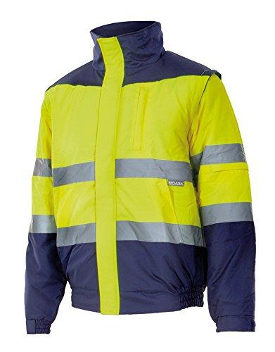 Velilla 161/C70/TXL Cazadora de alta visibilidad, Azul marino y amarillo fluorescente, XL