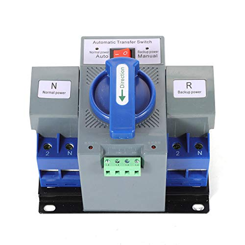 110V 2P 63A Dual Power Automatic Transfer Switch Dual Power Generator Changeover Switch 50HZ/60HZ with Electronic Instruction Manual