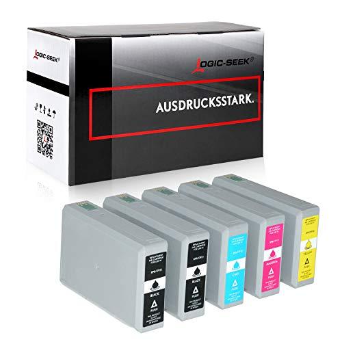 5 Tintenpatronen kompatibel für Epson Workforce Pro WF-4630 4640 DWF DTWF 5110 5190 DW 5620 5690 DWF C13 T7911 T7912 T7913 T7914 4010