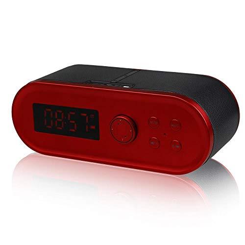 ZENWEN Uhr Wecker Bluetooth-Stereo-, Outdoor-Auto Subwoofer Bluetooth 4.1 Lautsprecher mit USB/TF-Steckplätze, home Desktop-PO Rtable Stereo-Lautsprecher, intelligente rauschfreie Lautsprecher Telefon