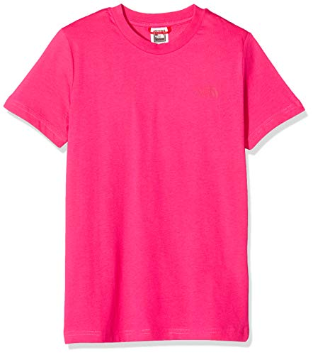 The North Face Y SS Simple Dome Tee Mixte Enfant, Cabaret Pink, FR (Taille Fabricant : XL)