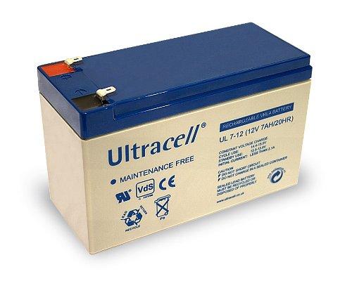 Preisvergleich Produktbild 10er Set Blei-Akku (Ultracell) 12 V,  7 Ah (Faston 187-4, 8mm )