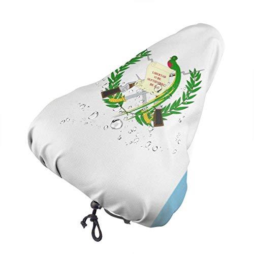 Du-shop Funda Impermeable para Bicicleta con Asiento de Bicicleta de Bandera de Guatemala con cordón, Resistente a la Lluvia y al Polvo