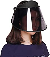 GOKEI 【2021改良版 薄くなる】サンバイザー レディース アームカバー付き uvカット ひよけ帽子 自転車 さんばいざー 紫外線対策 日除け帽子 日焼け対策 UPF50+ キャップ バイザー つば広 ワイド