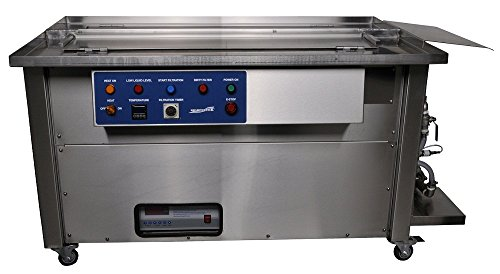 "SharperTek SH1200-8_8G-D Ultrasonic Gun Cleaner, Dual Tank, 48"" Cover and Heat with U.S. Lube Tank"