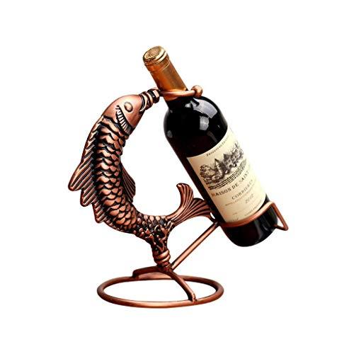 Botellero Vino Almacenamiento de vino titular de pescado Saltar estante del vino decoración casera de la cocina del restaurante del vino vitrina mostrador gabinete Bodega Estantería Vino