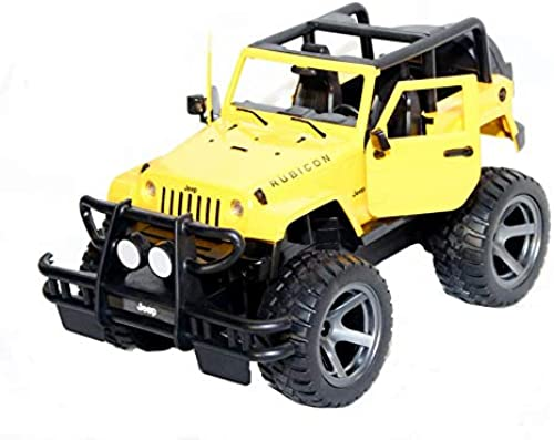 Siva Toys 50550 - Jeep Wrangler 1 14 2.4 Ghz RTR gelb, Mehrfarbig