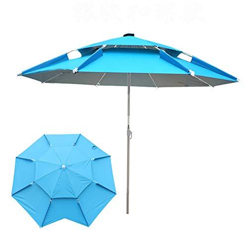 Parasol Ombrellone da Terrazzo Antivento Ombrellone da Giardino da Spiaggia,Mare,Giardino E Terrazzo - Diametro 200/220/240 cm - Protezione Solare + Impermeabile - Meccanismo di Inclinazione