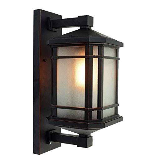 Exterior Lámpara Aplique de Pared para Patio Modeen clásico rústico tradicional prueba de agua de pared exterior, luz del pasillo Winter Garden Balcón Porche lámpara de pared lámpara de pared de crist