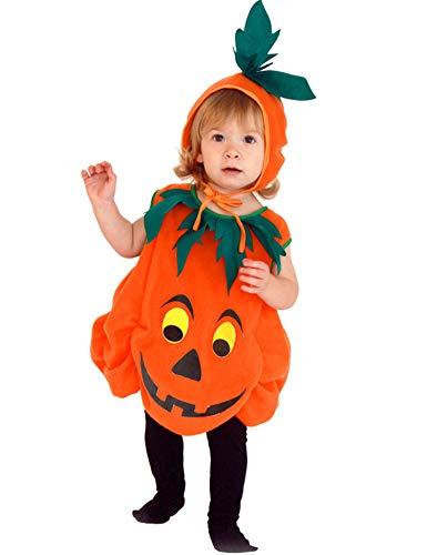 Aoymay Halloween Pumpkin Costume for Baby Boys Girls 6M-5T Cosplay Pumpkin Cutie Pie Costume Suits Orange