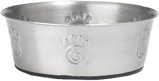 وعاء الحيوانات الأليفة الكلاسيكي كايمان من الفولاذ المقاوم للصدأ من بيتراجس ديزاينز، يحمل 3 أكواب