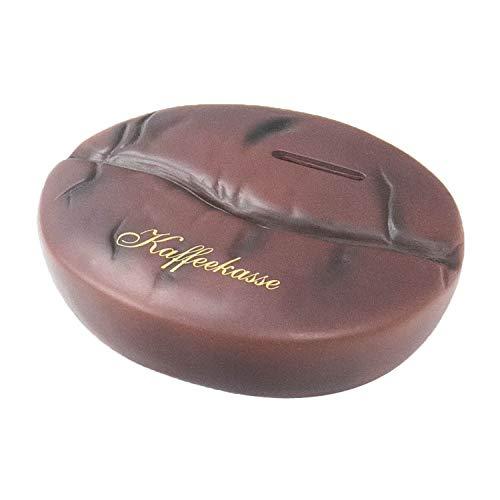 HMF 48916 Spardose Kaffeebohne mit Schlüssel | Sparbüchse | 10 x 14 x 11,5 cm