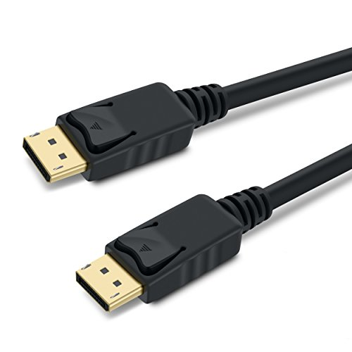 GearIT Gold Plated DisplayPort to DisplayPort Cable 10 Feet - 4K Resolution Ready (DP to DP Cable) Black