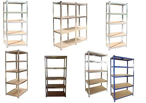 Steckregal - verschiedene Größen / Farben wählbar - Lagerregal, Steckregal, Werkstattregal, Regal, verzinkt oder blau beschichtet, (Modell 1)