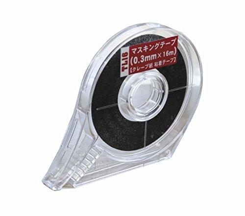 ハセガワトライツール マスキングテープ 0.3mm×16m クレープ紙 粘着テープ プラモデル用工具 TL16