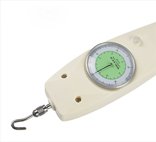 VTSYIQI NLB-30 Dial Mechanical Analog Push Pull Gauge Force gauge Dynamometer Measuring Instruments Thrust Torque Tester Tension Meter with Max Load 30N White