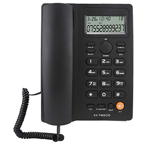 cigemay Teléfono Fijo para Empresas, Teléfonos con Cable, Teléfono Escritorio con Cable con Identificador Llamadas/Llamada en Espera, Teléfono Fijo Escritorio con Función Marcación, Llamadas(Negro)