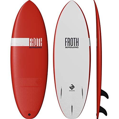 Boardworks Froth! | Soft Top Surfboard | 3 Fins | Wake Surfboard | 5' 6' | Papaya