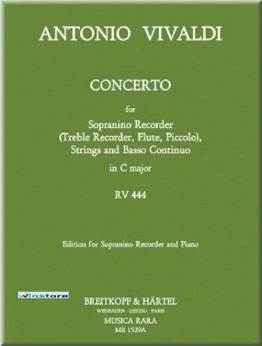 Antonio Vivaldi - Concerto in C-dur RV 444 - Sopranino-Blockflöte Noten [Musiknoten]