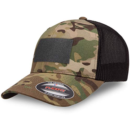 The Fighting Forces Flexfit Multicam Camo 6 Panel Tactical Operator Velcro Cap- Mesh Ball Perfect for Any Activities Outdoor -Multi Cam Desert(One Size)