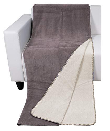 Luxury line Wohndecke Double Face Overlock Naht 58prozent Baumwolle, braun-beige