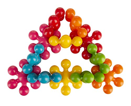 Funskool Star Links, Multicoloured Interlocking Learning Educational Blocks, Improves Creativity And Construction Blocks For Kids, 6 Months & Above, Infant and Preschool Toys
