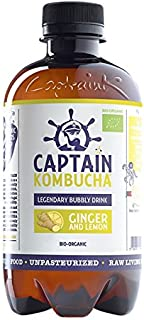 comprar comparacion Captain Kombucha Ginger Lemon, Té de burbuja - 12 de 400 ml. (Total 4800 ml.)
