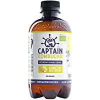 Captain Kombucha Ginger Lemon, Té de burbuja - 12 de 400 ml. (Total 4800 ml.)