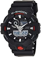 Casio Mens Quartz Watch, Analog-Digital Display and Rubber Strap GA700-1ACR
